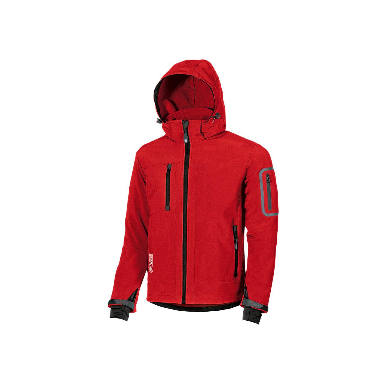 giacca da lavoro upower modello metropolis colore red magma