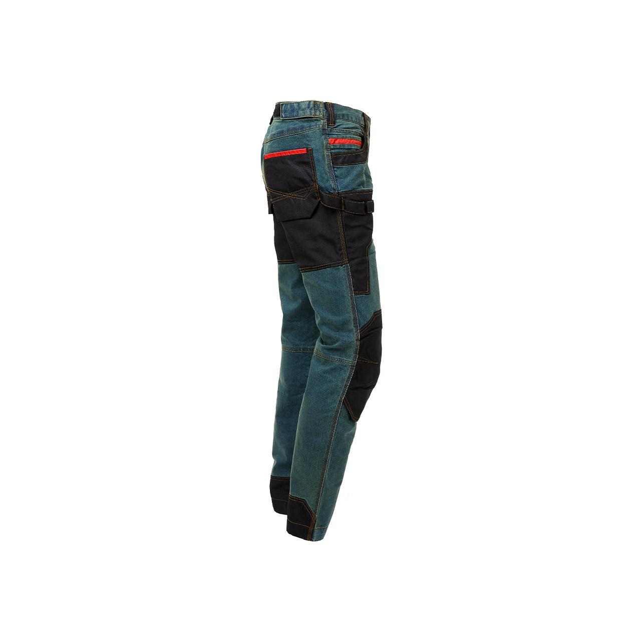 pantalone da lavoro upower modello platinum button colore rust jeans