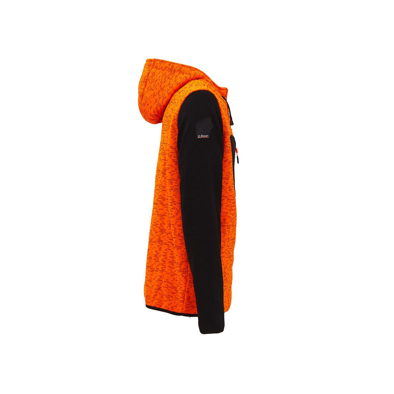 felpa da lavoro upower modello rainbow colore orange fluo