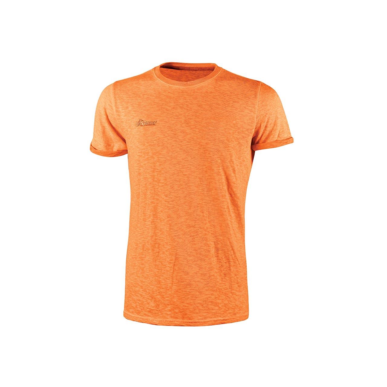Tshirt da lavoro upower modello fluo colore orange fluo