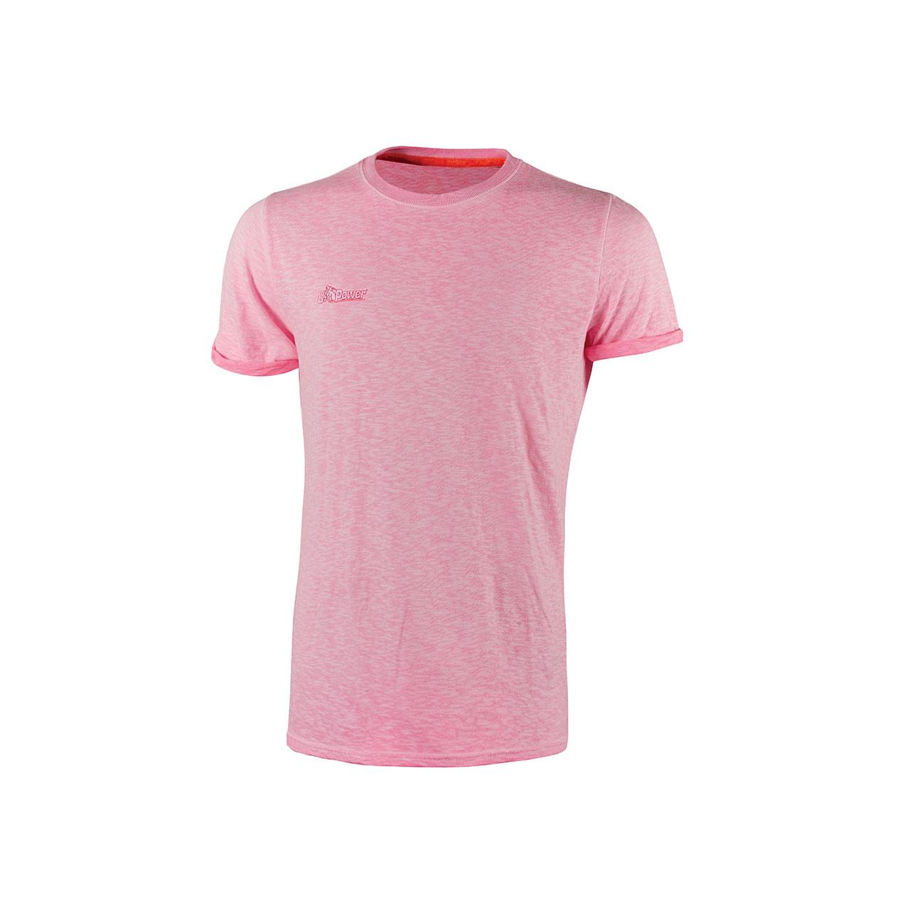 Tshirt da lavoro upower modello fluo colore pink fluo p