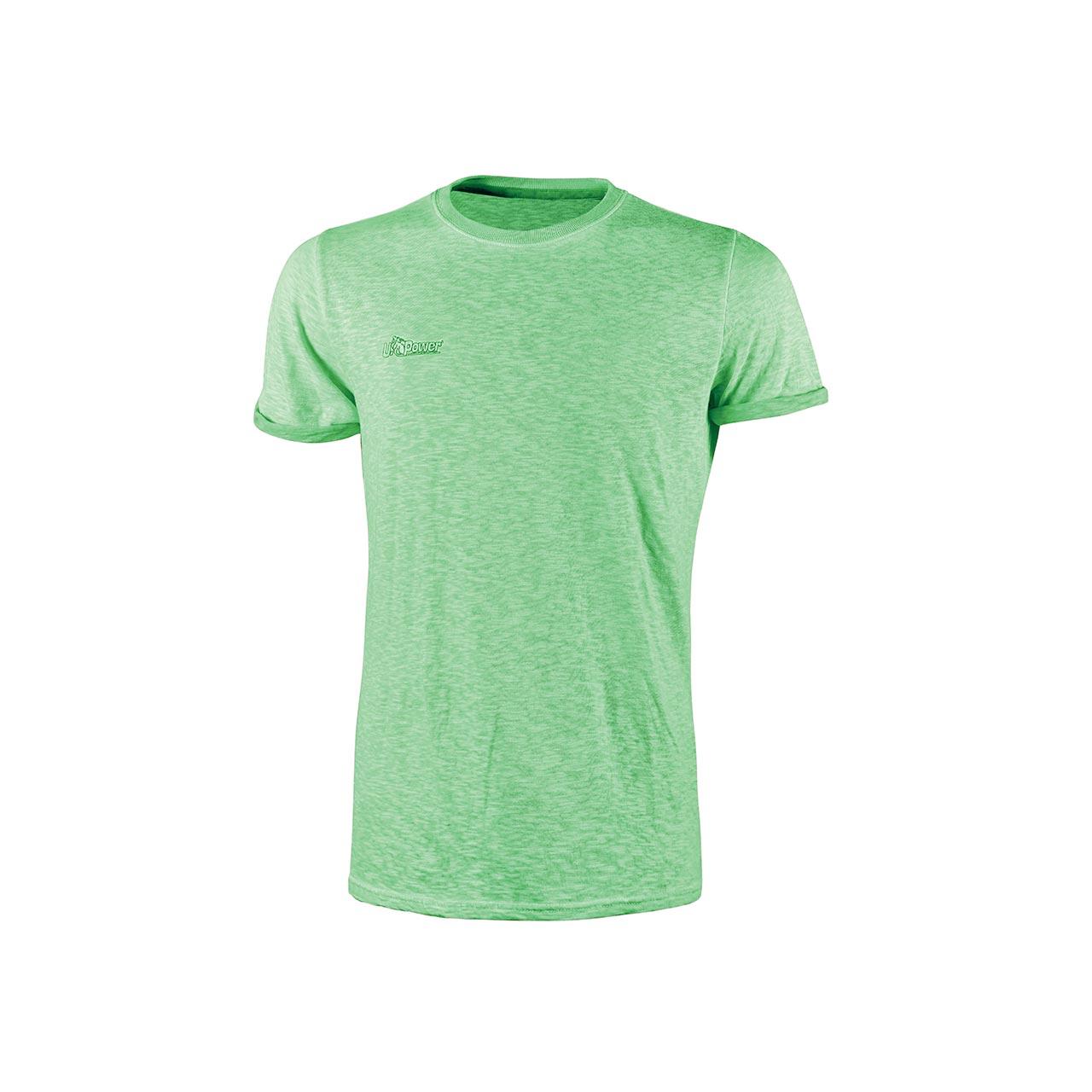 Tshirt da lavoro upower modello fluo colore verde fluo