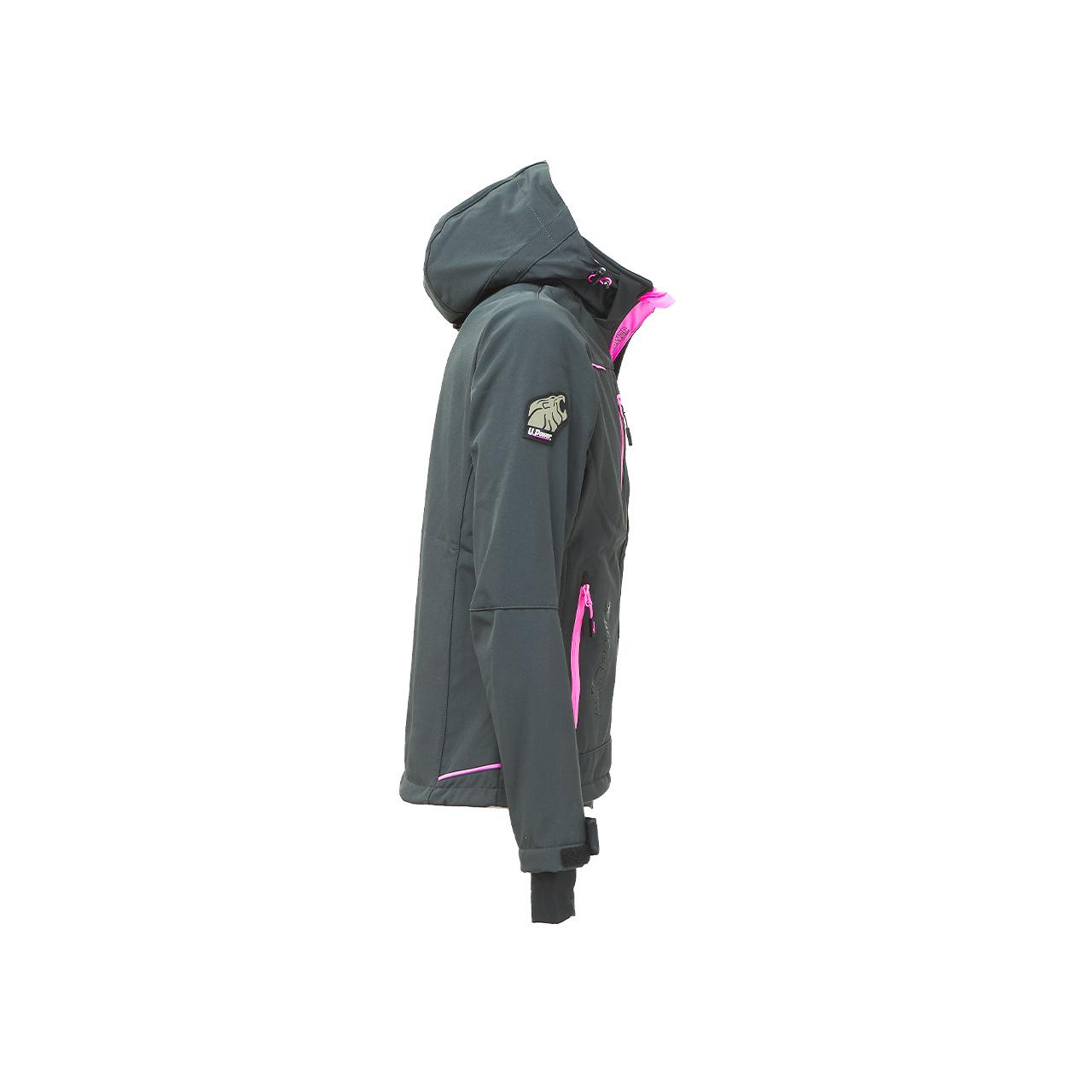 giacca da lavoro upower modello space lady colore grey fucsia
