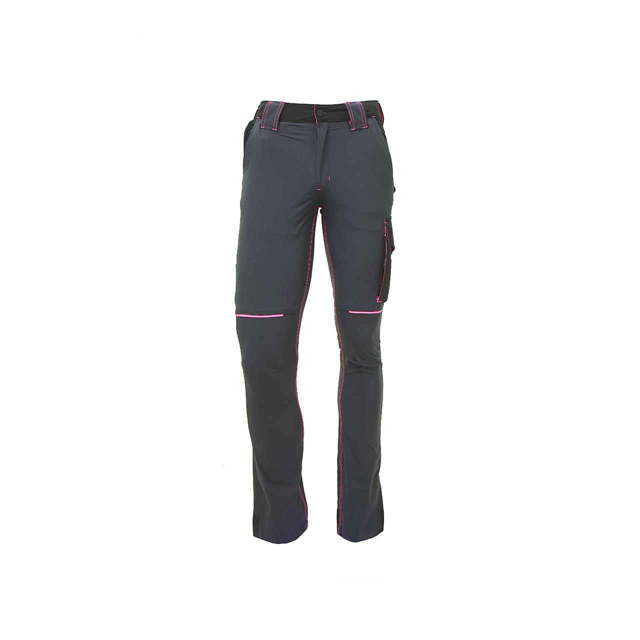 pantalone da lavoro upower modello lady world colore grey fucsia
