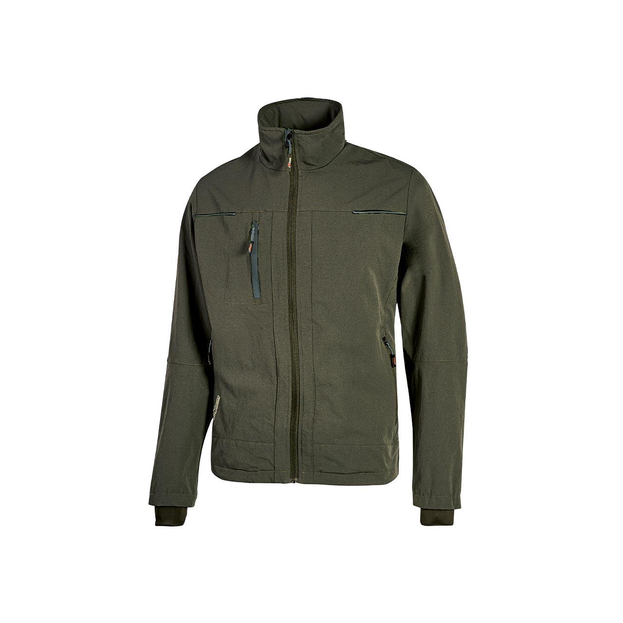 giacca da lavoro upower modello pluton colore dark green