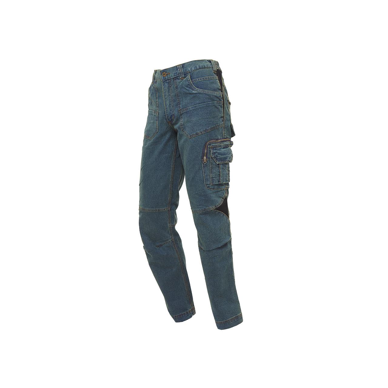 pantalone da lavoro upower modello traffic colore rust jeans