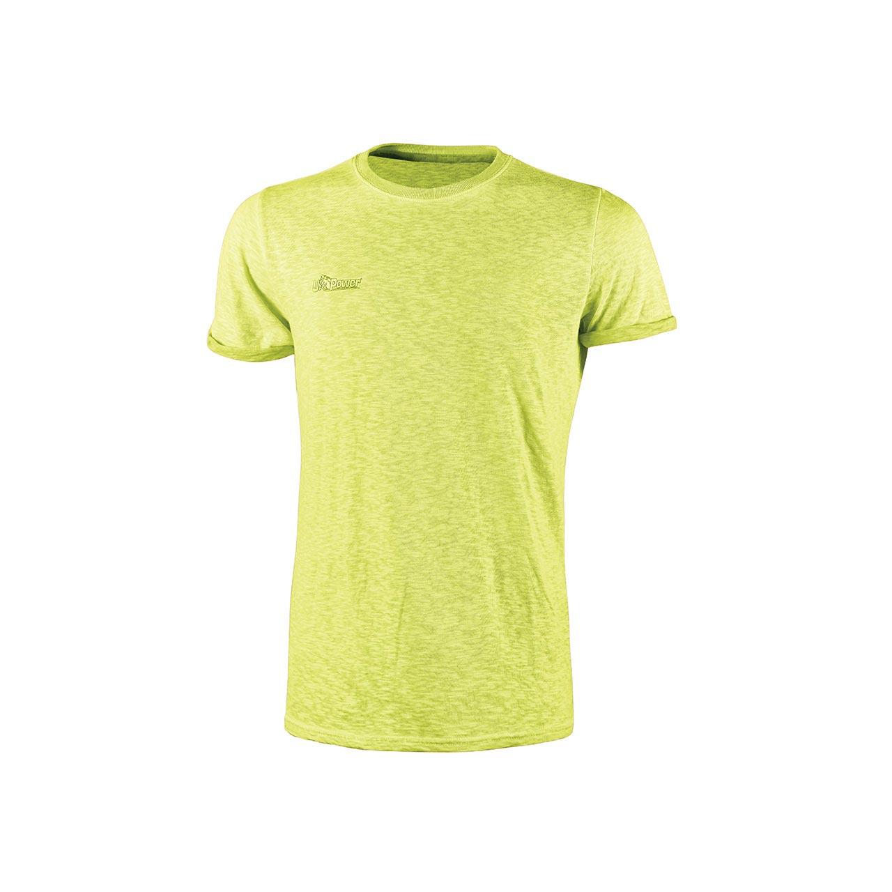 Tshirt da lavoro upower modello fluo colore yellow fluo