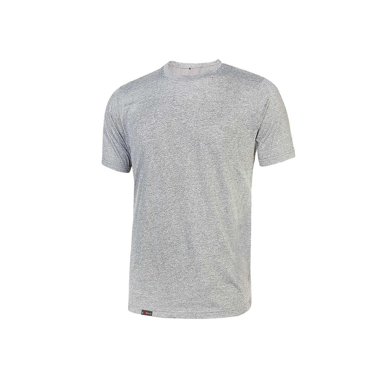 Tshirt da lavoro upower modello linear colore grey silv