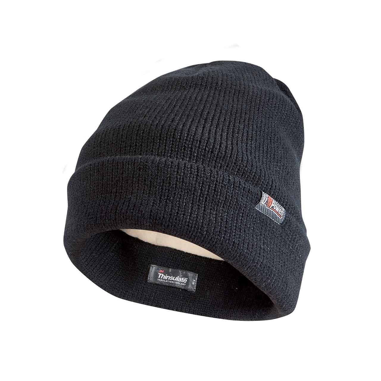 berretto invernale da lavoro upower colore black carbon