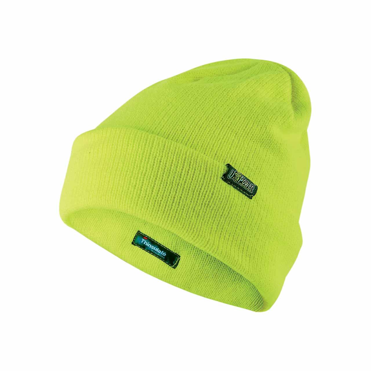berretto invernale da lavoro upower colore yellow fluo