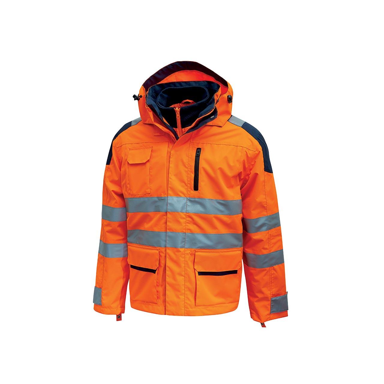 giacca da lavoro upower modello backer colore orange fl