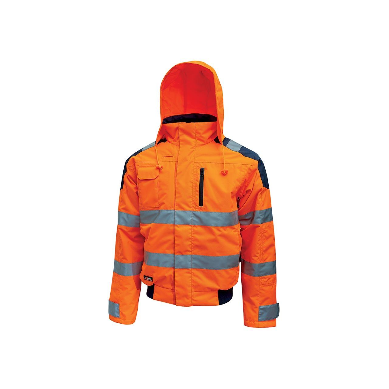 giacca da lavoro upower modello best colore orange fluo