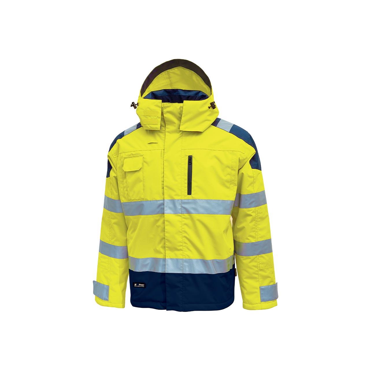 giacca da lavoro upower modello defender colore yellow