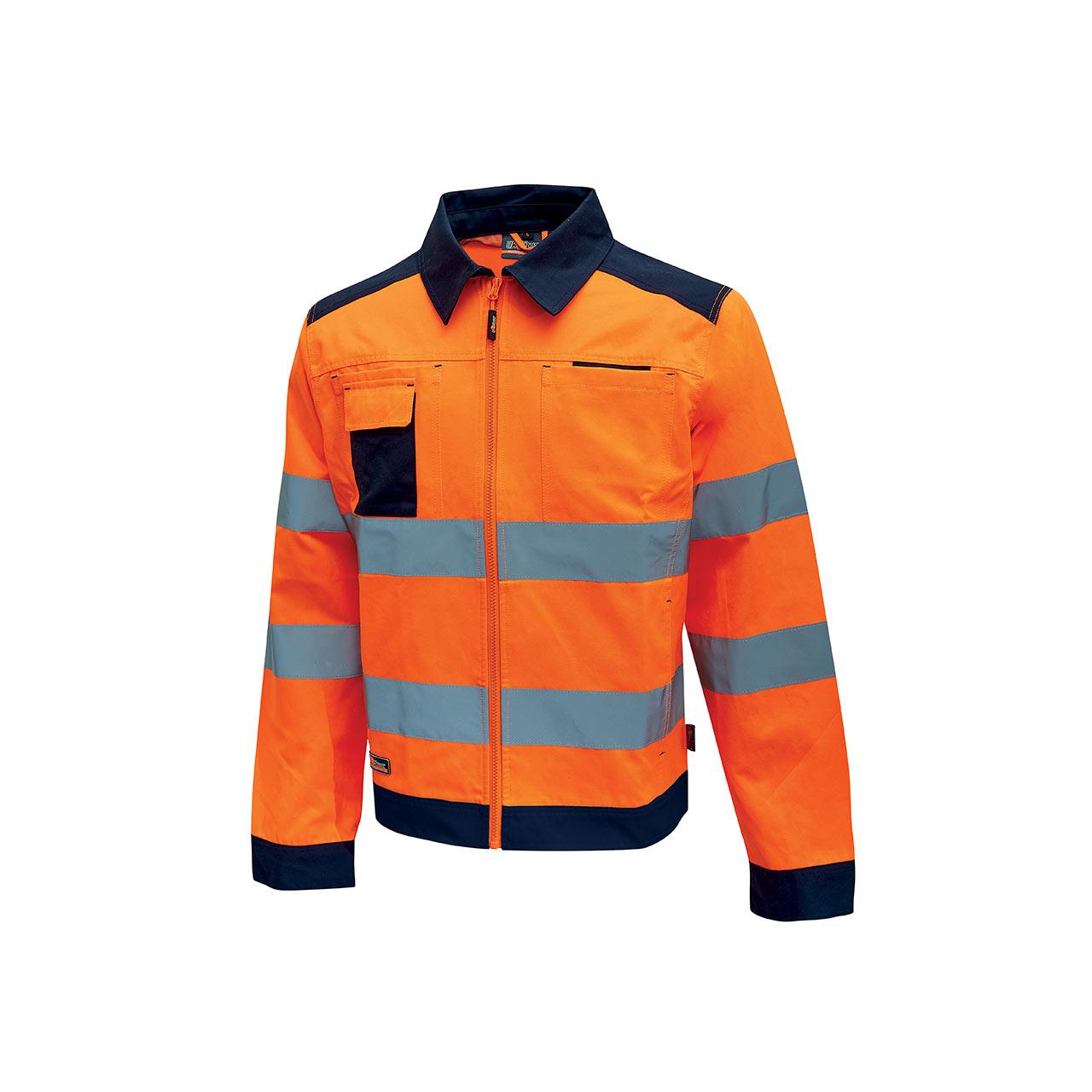 giacca da lavoro upower modello gleam colore orange flu