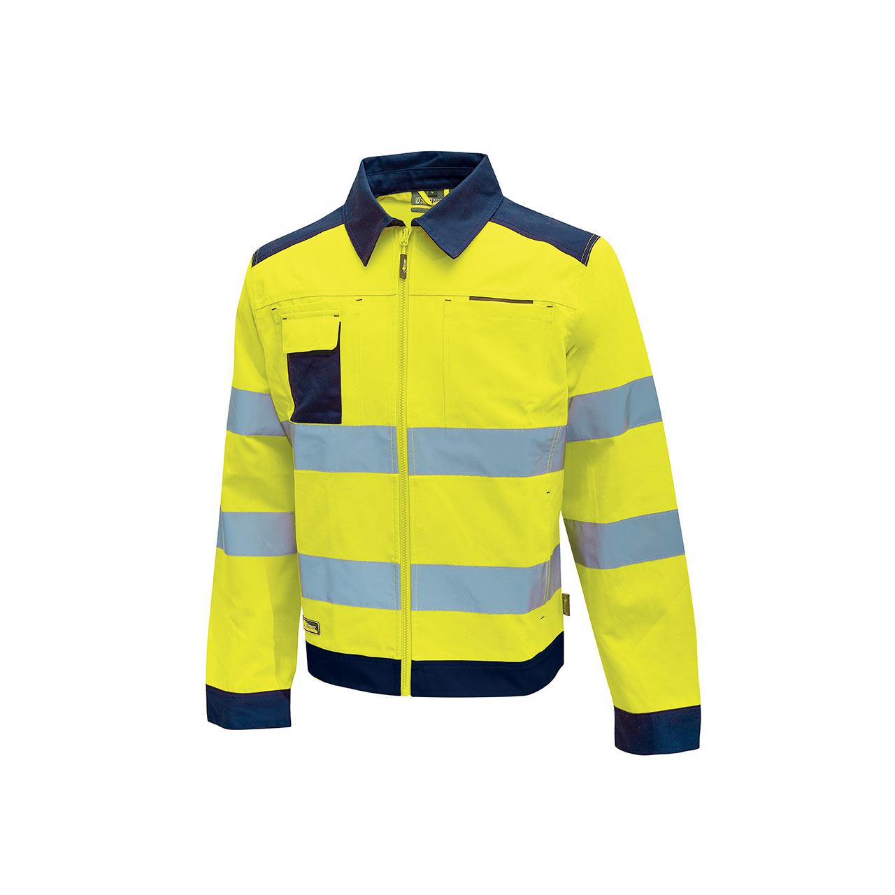 giacca da lavoro upower modello gleam colore yellow flu
