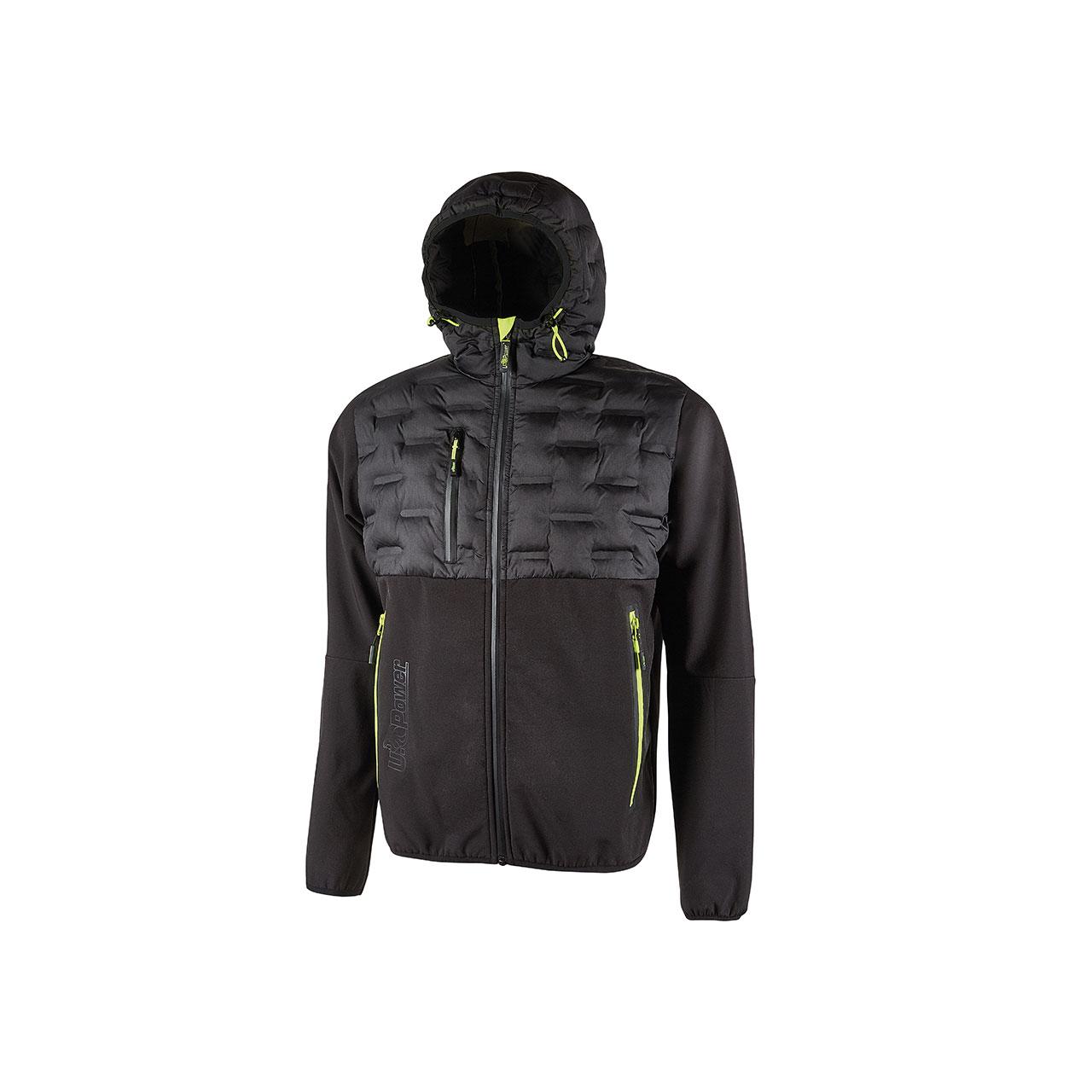 giacca da lavoro upower modello spock colore black carbon