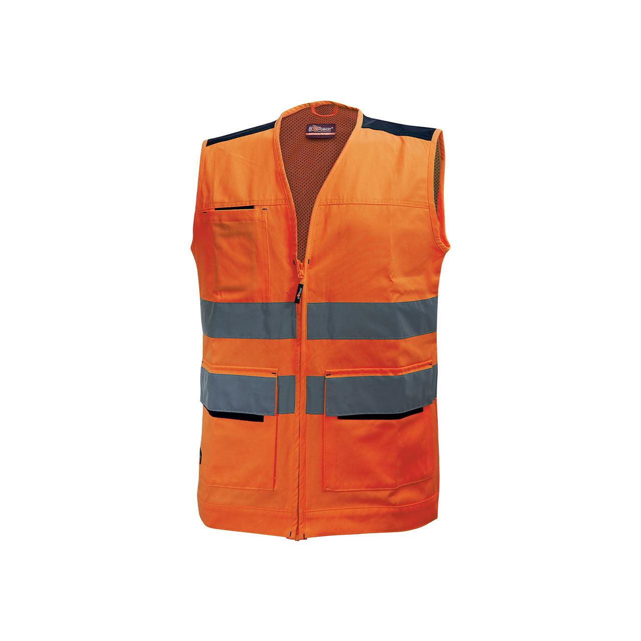 gilet da lavoro upower modello smart colore orange fluo