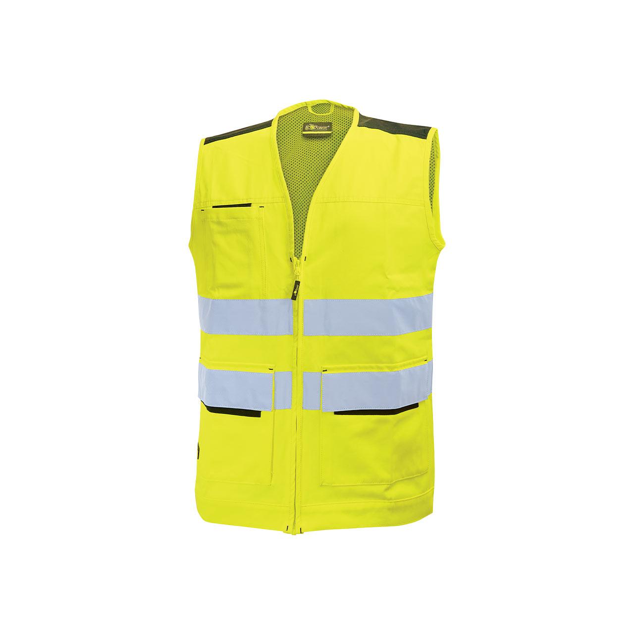 gilet da lavoro upower modello smart colore yellow fluo