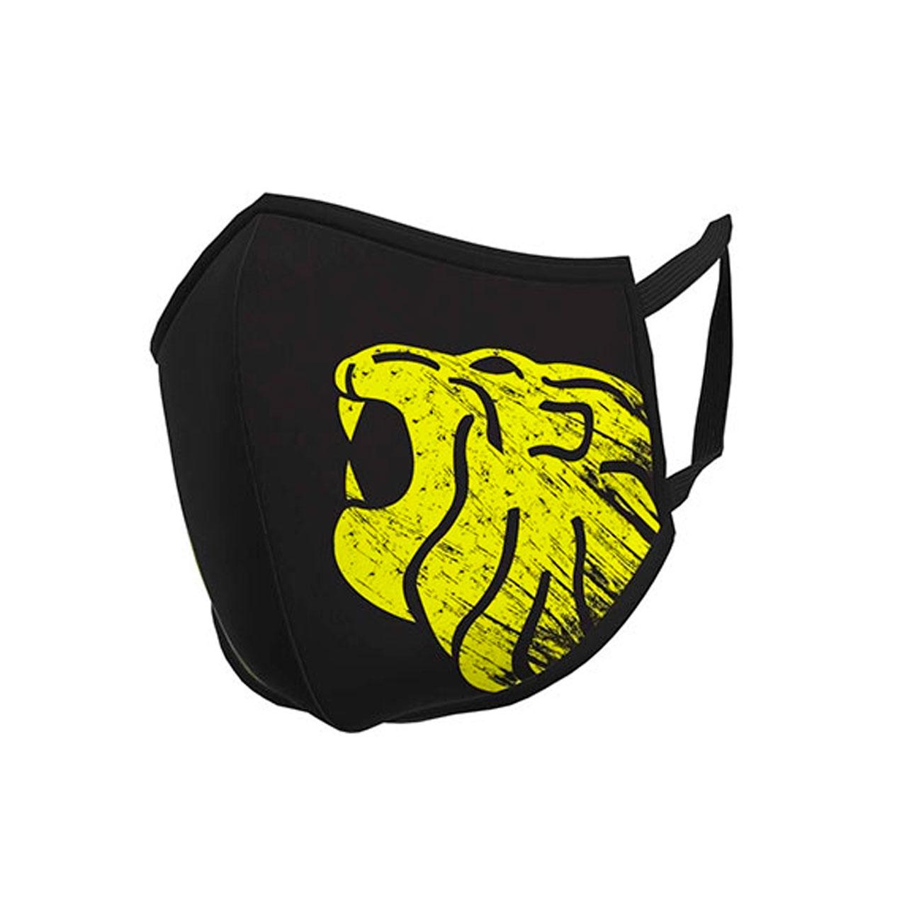 mask black yellow