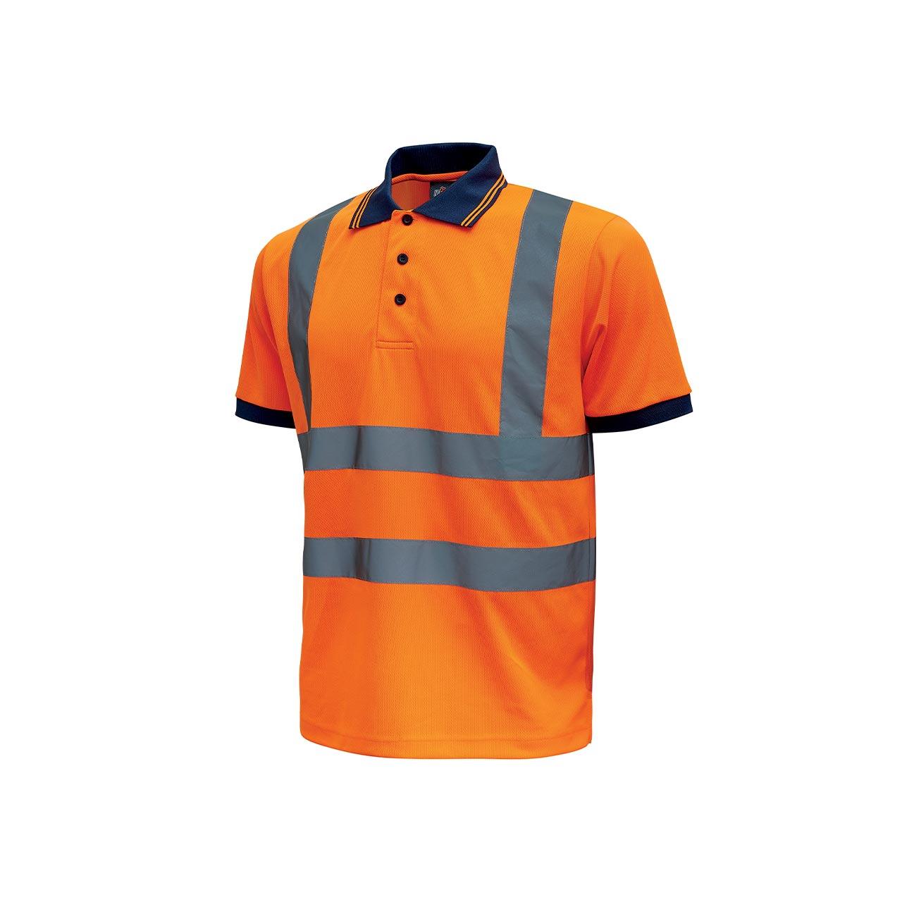 polo da lavoro upower modello neon colore orange fluo pr