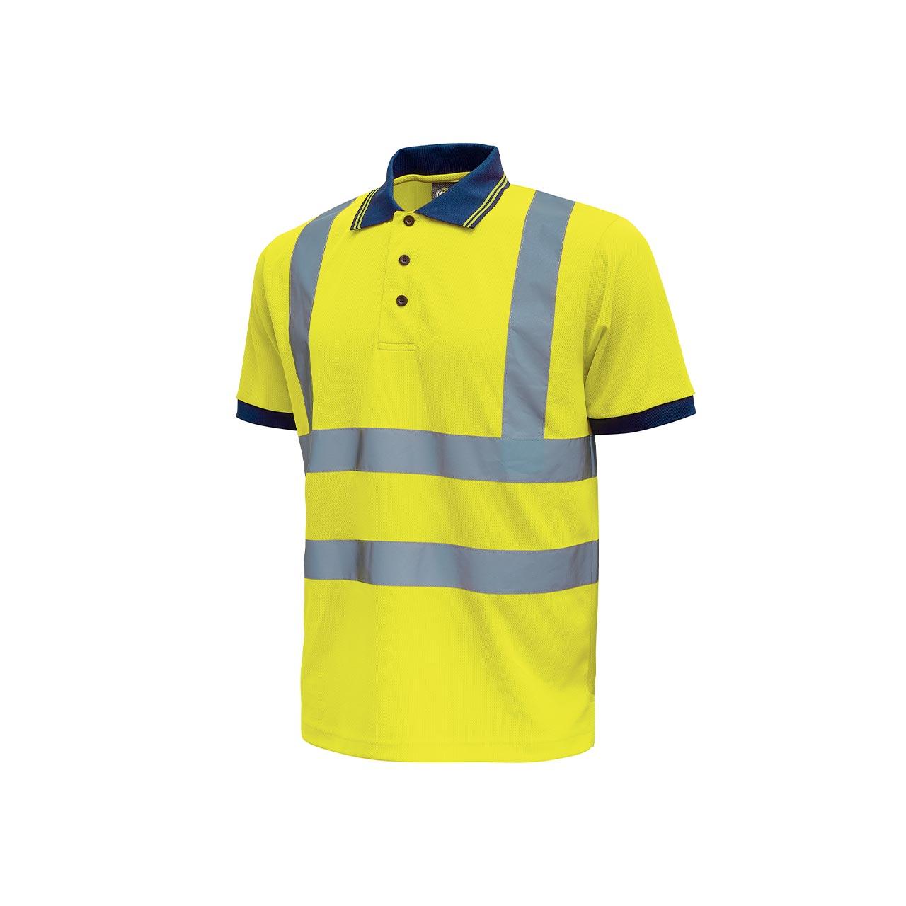 polo da lavoro upower modello neon colore yellow fluo pr