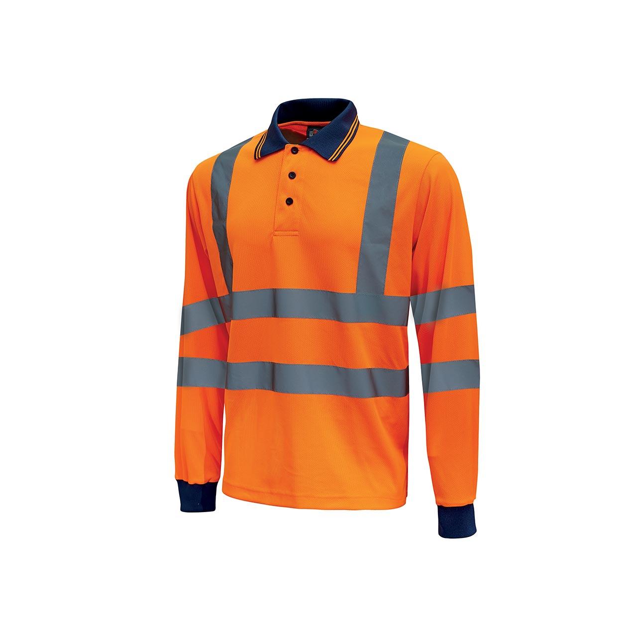polo da lavoro upower modello shine colore orange fluo p