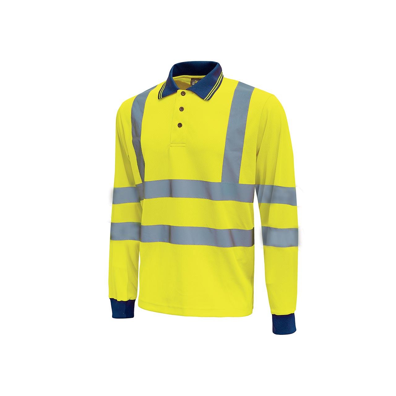 polo da lavoro upower modello shine colore yellow fluo p
