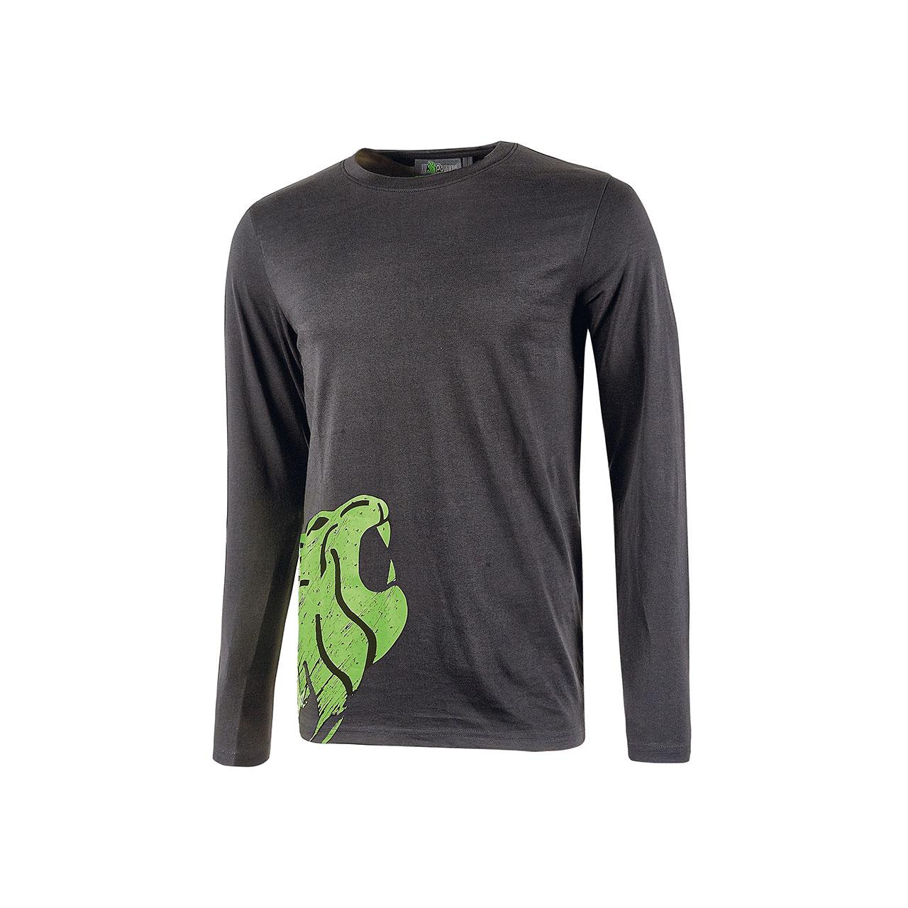 tshirt da lavoro upower modello alien colore asphalt grey