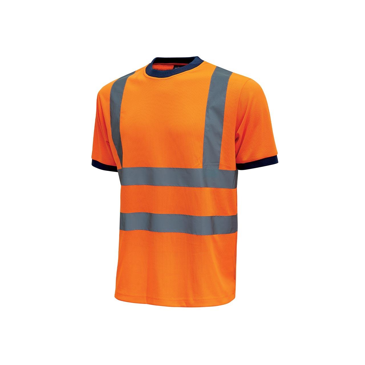 tshirt da lavoro upower modello glitter colore orange fluo