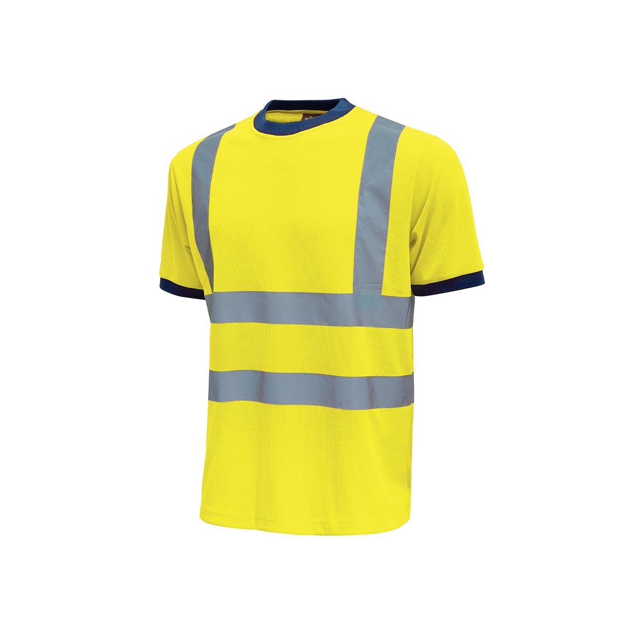 tshirt da lavoro upower modello glitter colore yellow fluo