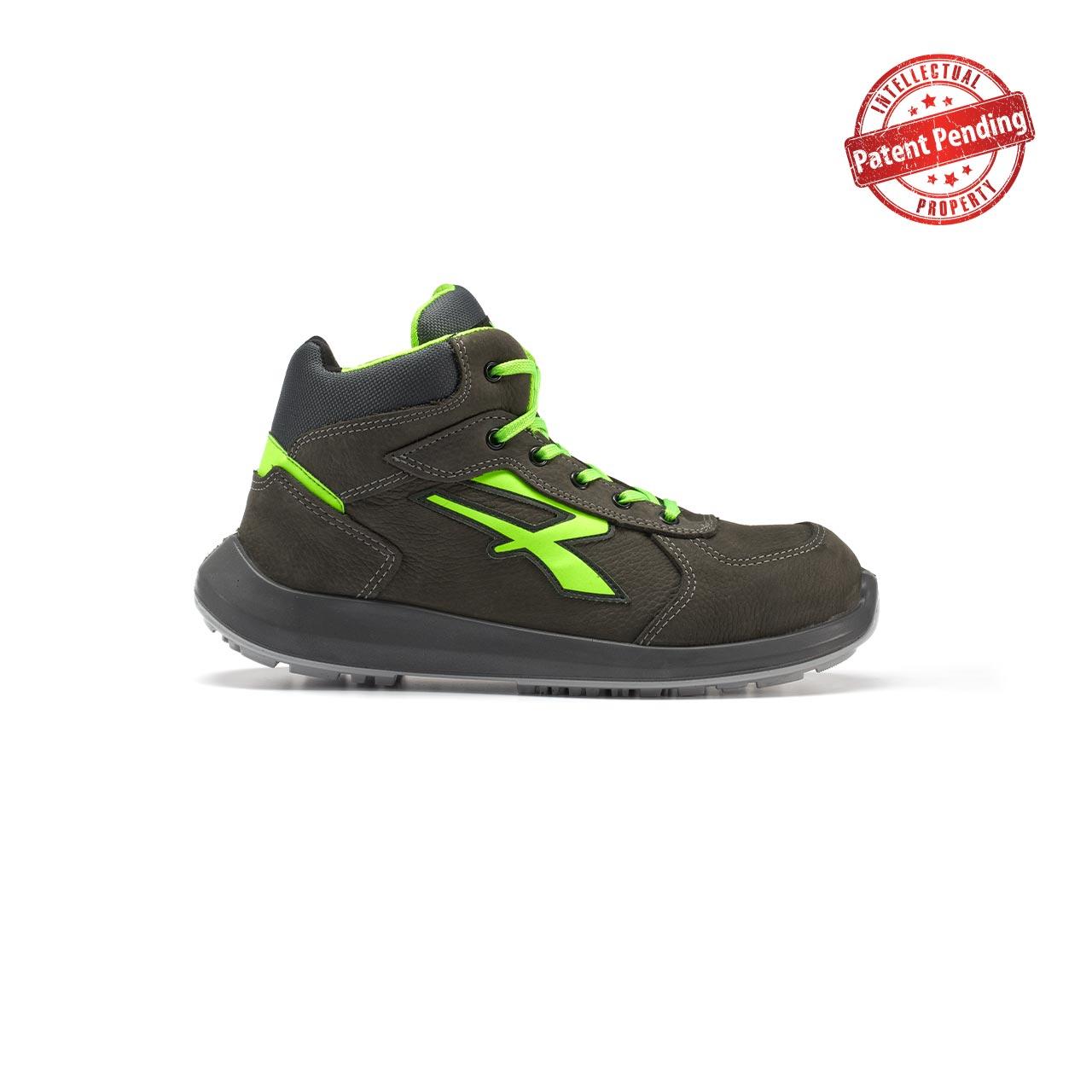 calzatura da lavoro alta upower modello aries linea redup vista lato destro