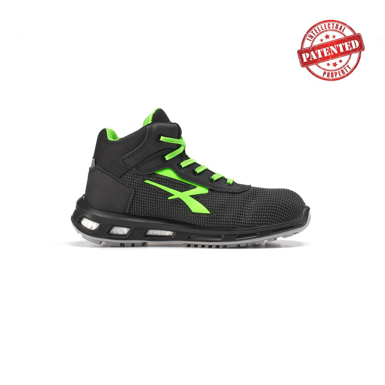 calzatura da lavoro alta upower modello hard linea redlion vista lato destro