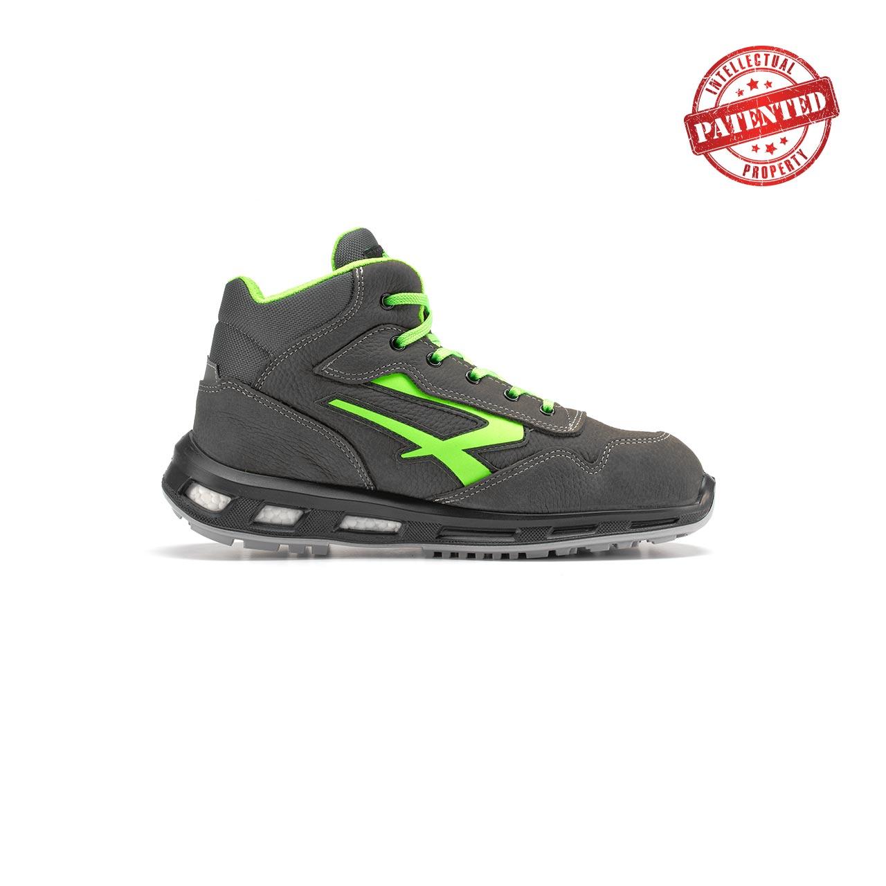 calzatura da lavoro alta upower modello hummer linea redlion vista lato destro