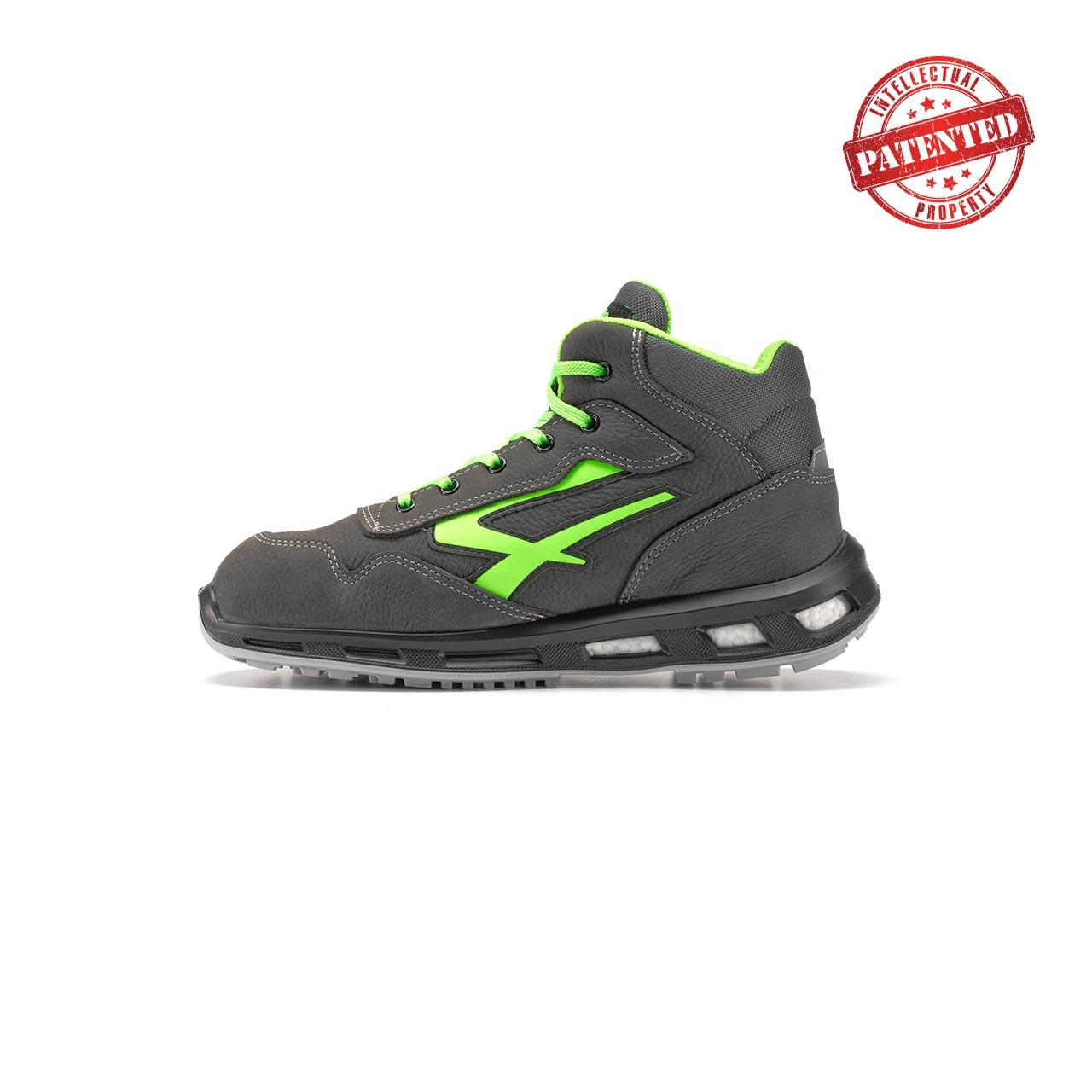 calzatura da lavoro alta upower modello hummer linea redlion vista lato sinistra