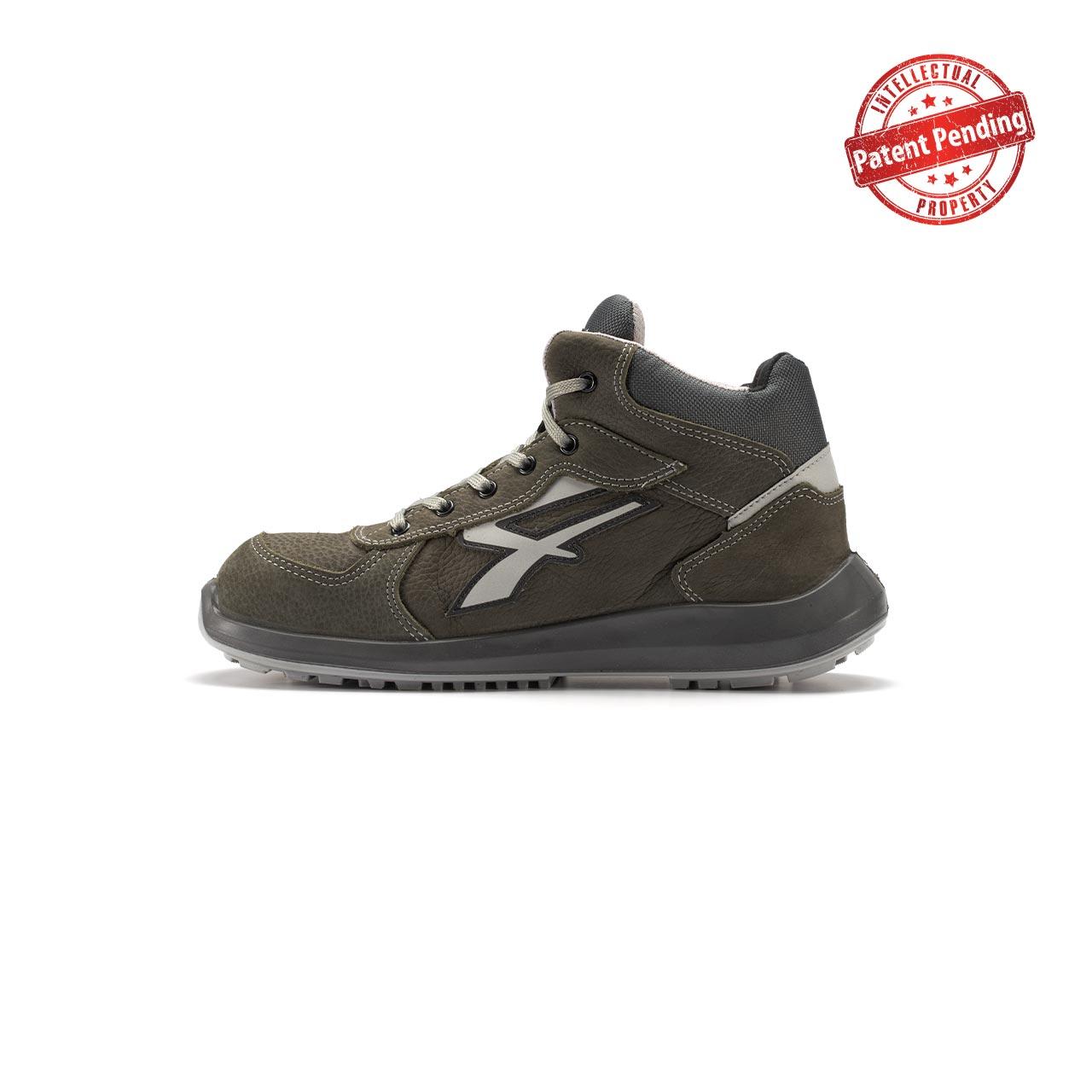 calzatura da lavoro alta upower modello merak linea redup vista lato sinistra