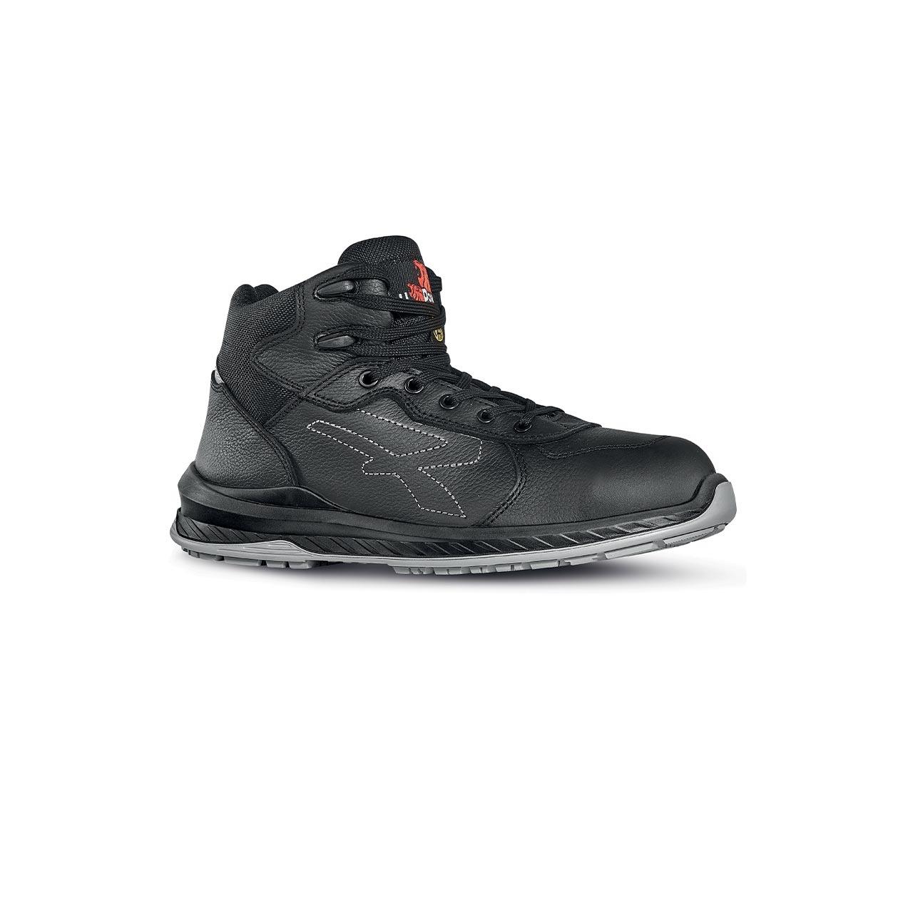calzatura da lavoro alta upower modello scuro linea redindustry vista lato destro