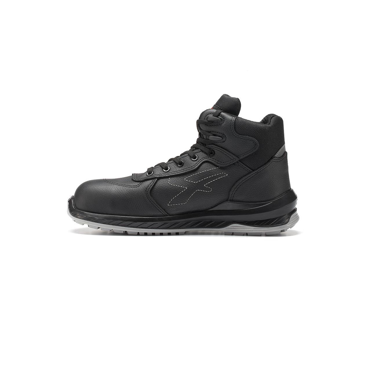 calzatura da lavoro alta upower modello scuro linea redindustry vista lato sinistra