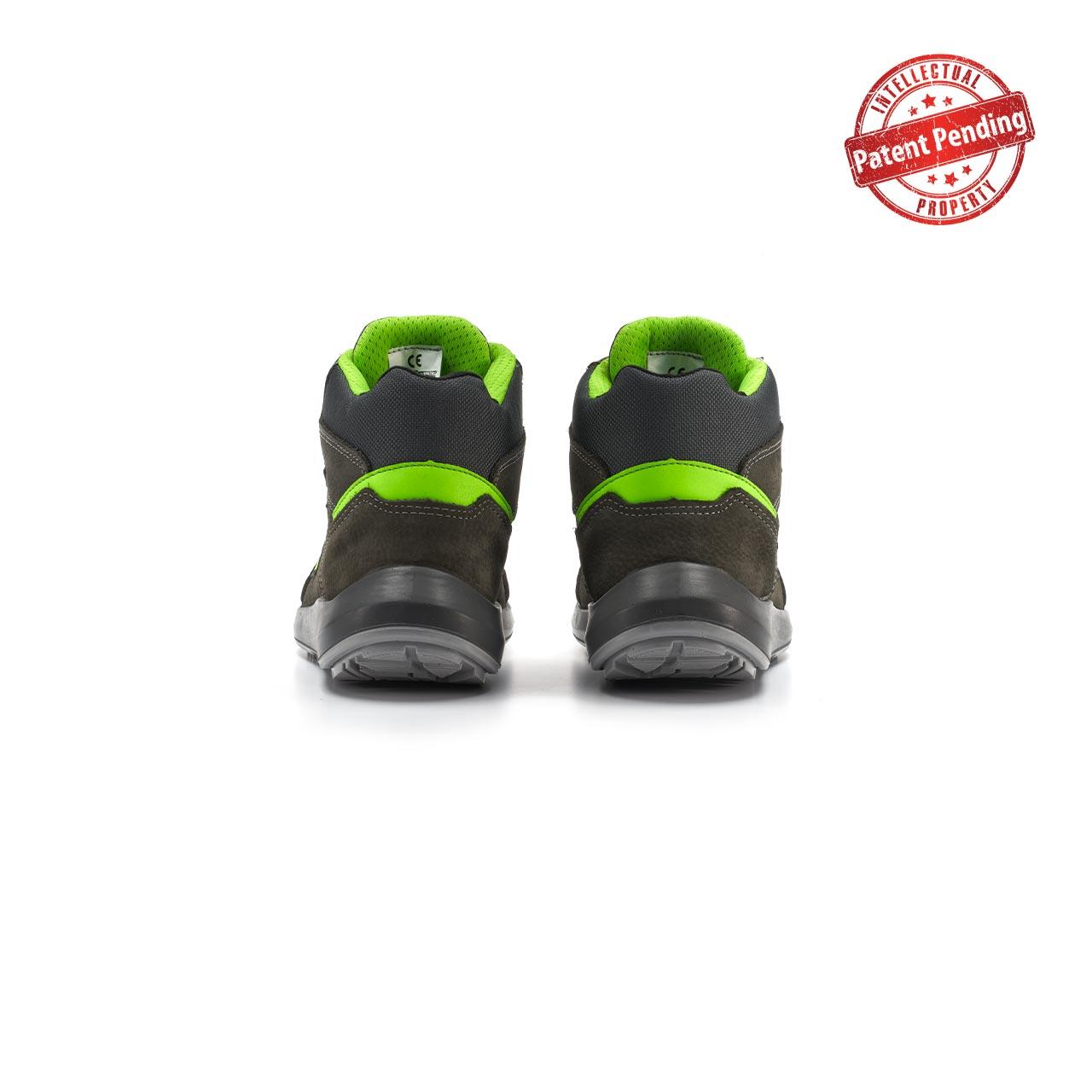 paio di scarpe antinfortunistiche alte upower modello aries linea redup vista retro