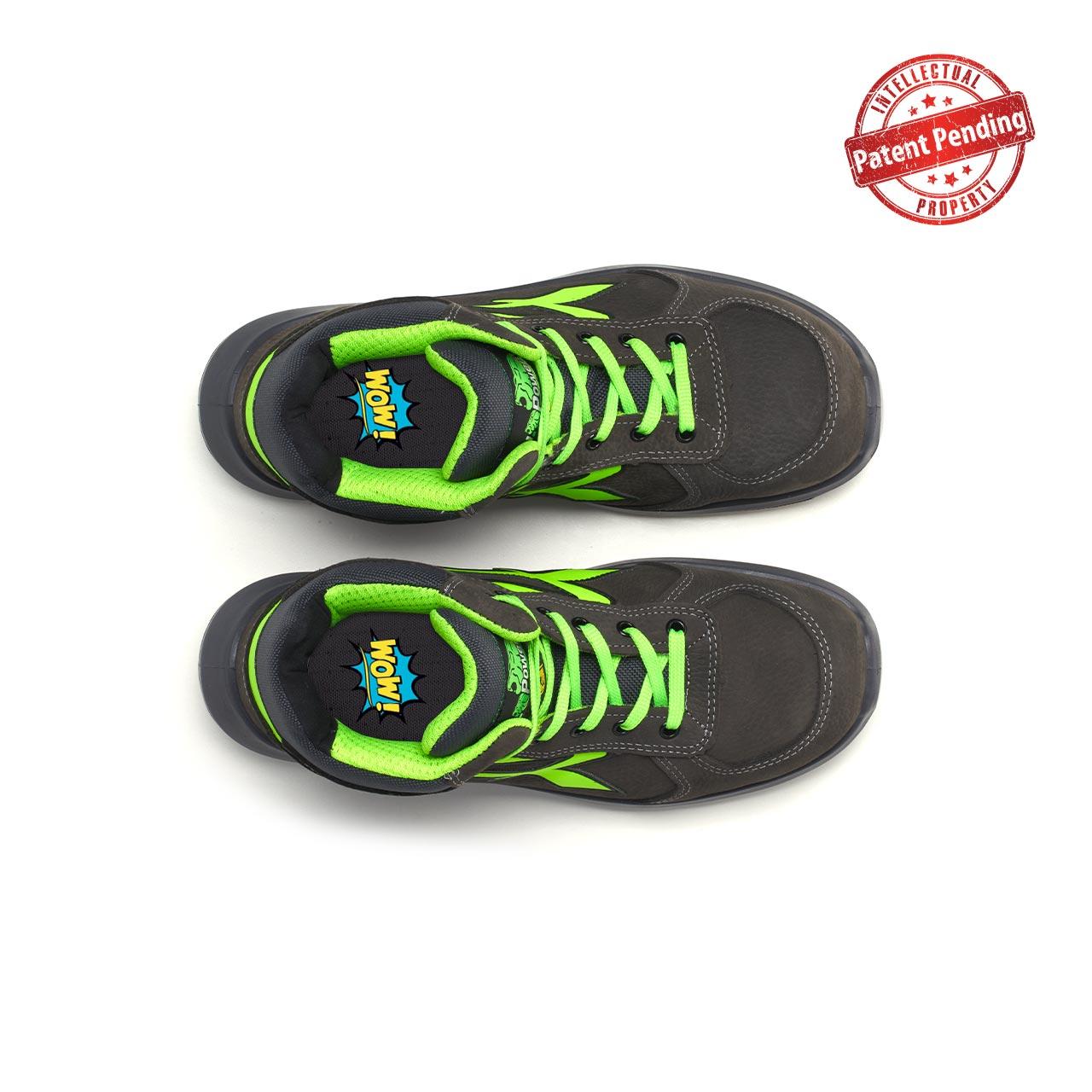 paio di scarpe antinfortunistiche alte upower modello aries linea redup vista top