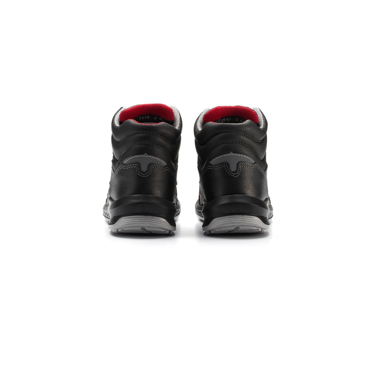 paio di scarpe antinfortunistiche alte upower modello boston linea redindustry vista retro