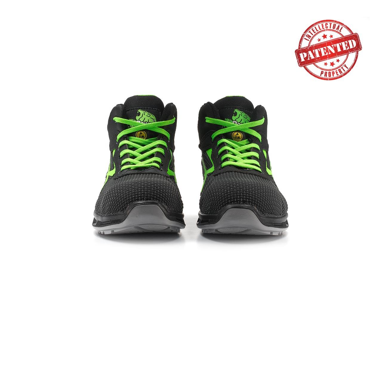 paio di scarpe antinfortunistiche alte upower modello hard linea redlion vista frontale