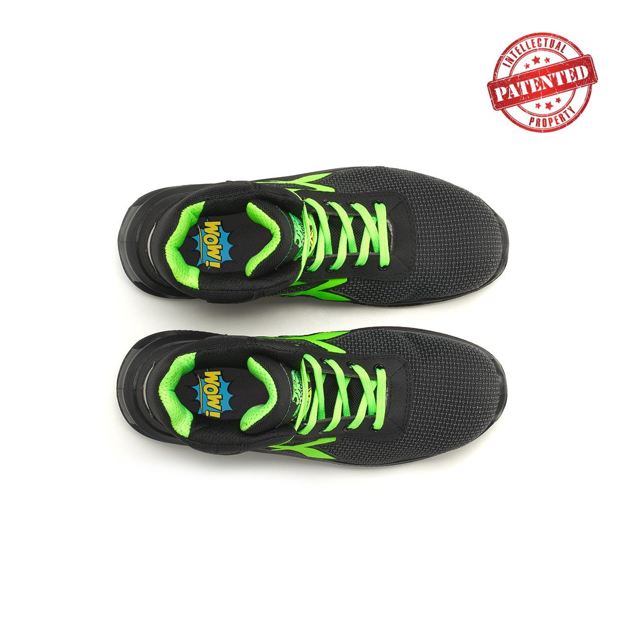 paio di scarpe antinfortunistiche alte upower modello hard linea redlion vista top