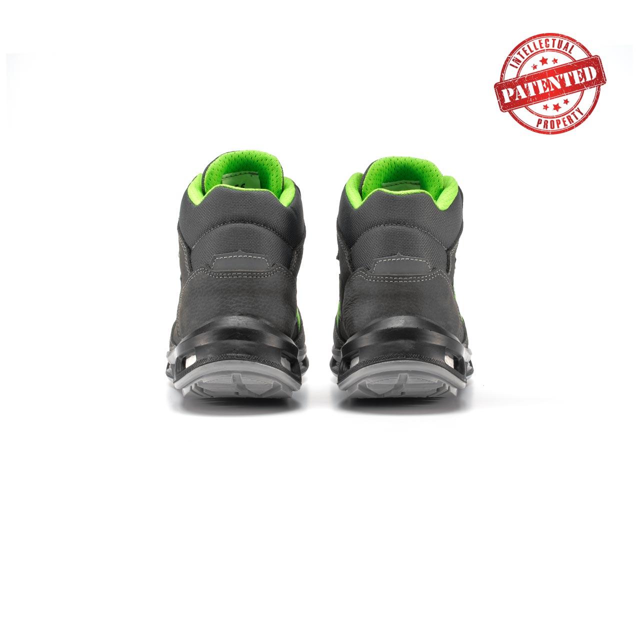 paio di scarpe antinfortunistiche alte upower modello hummer linea redlion vista retro