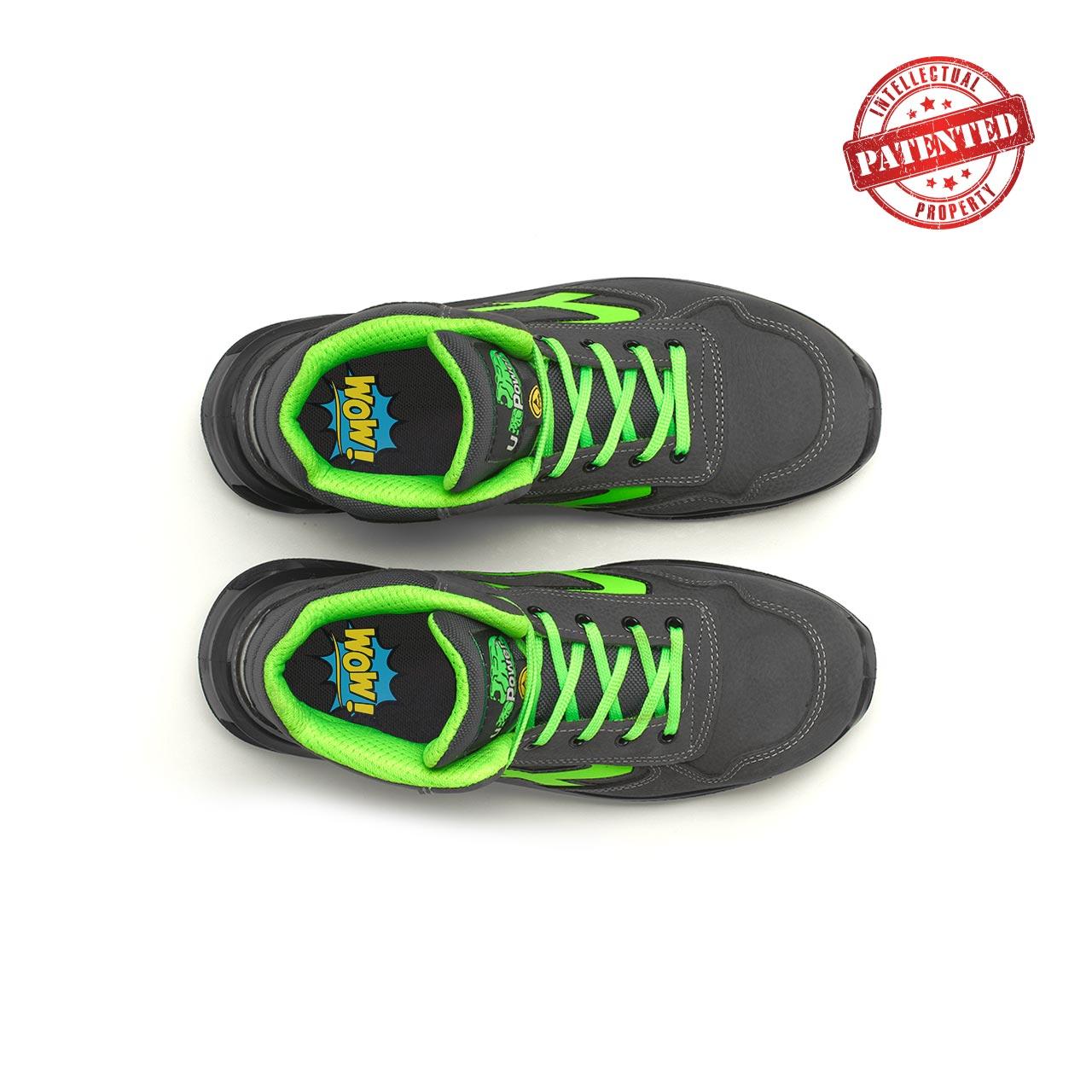 paio di scarpe antinfortunistiche alte upower modello hummer linea redlion vista top