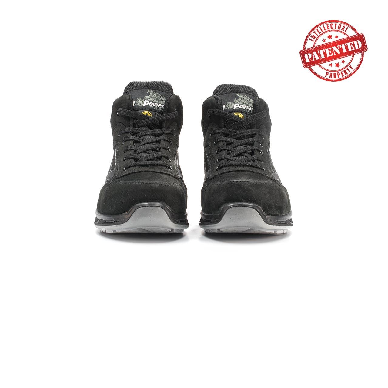 paio di scarpe antinfortunistiche alte upower modello lift linea redlion vista frontale