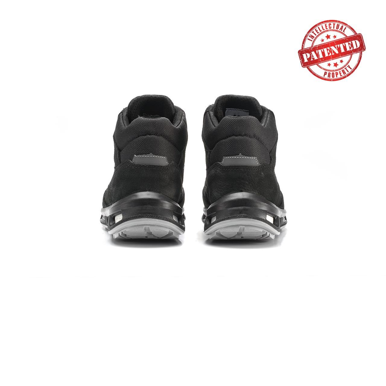 paio di scarpe antinfortunistiche alte upower modello lift linea redlion vista retro