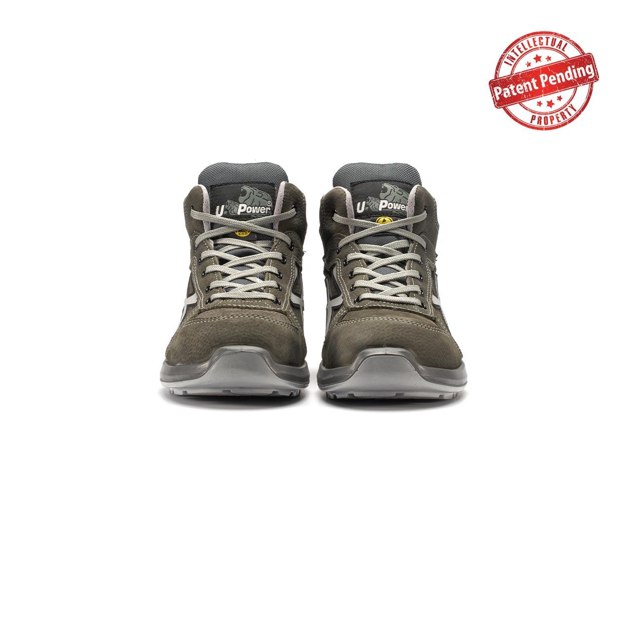 paio di scarpe antinfortunistiche alte upower modello merak linea redup vista frontale