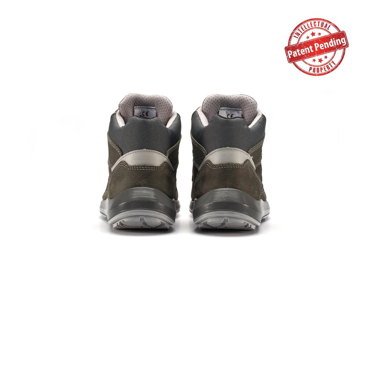 paio di scarpe antinfortunistiche alte upower modello merak linea redup vista retro
