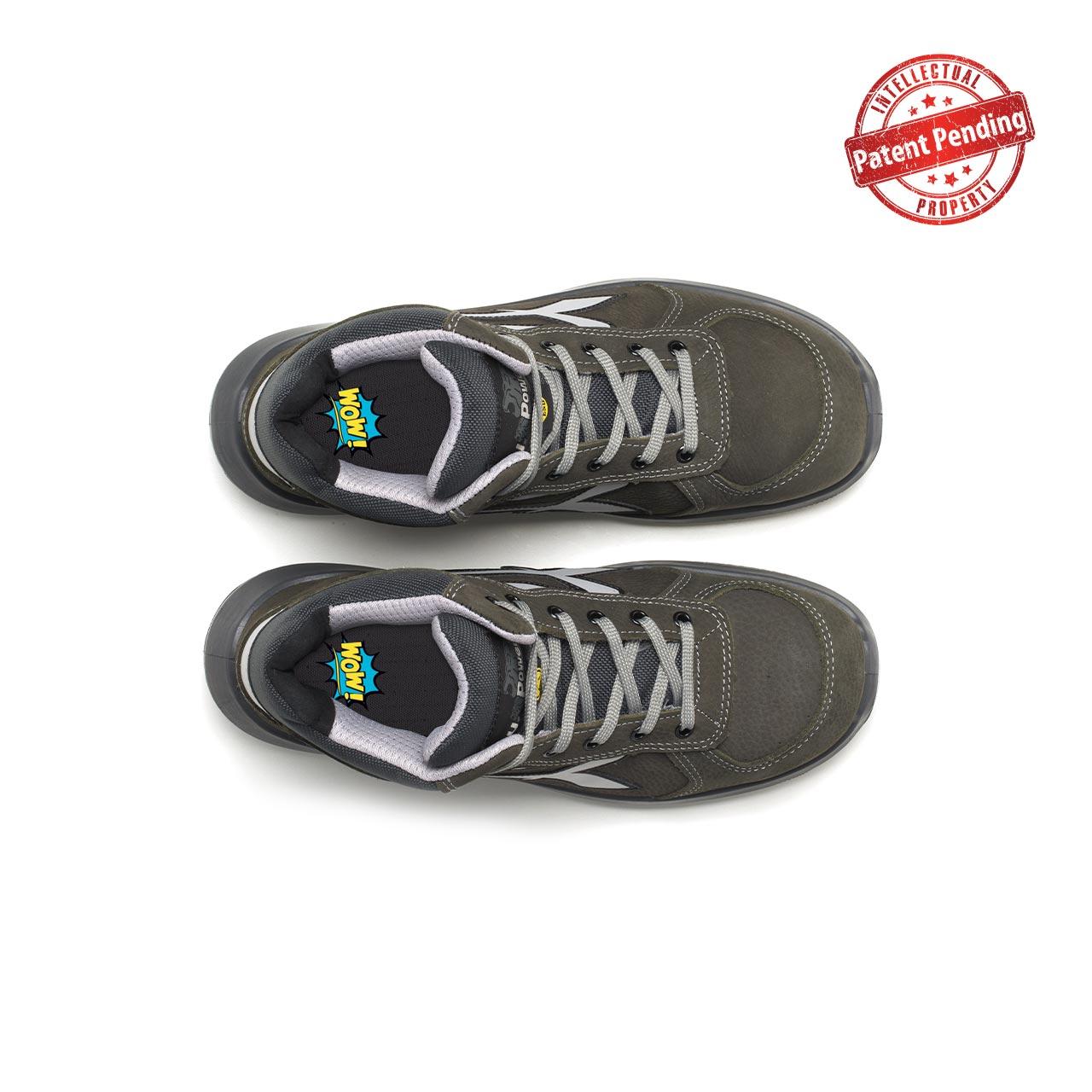 paio di scarpe antinfortunistiche alte upower modello merak linea redup vista top