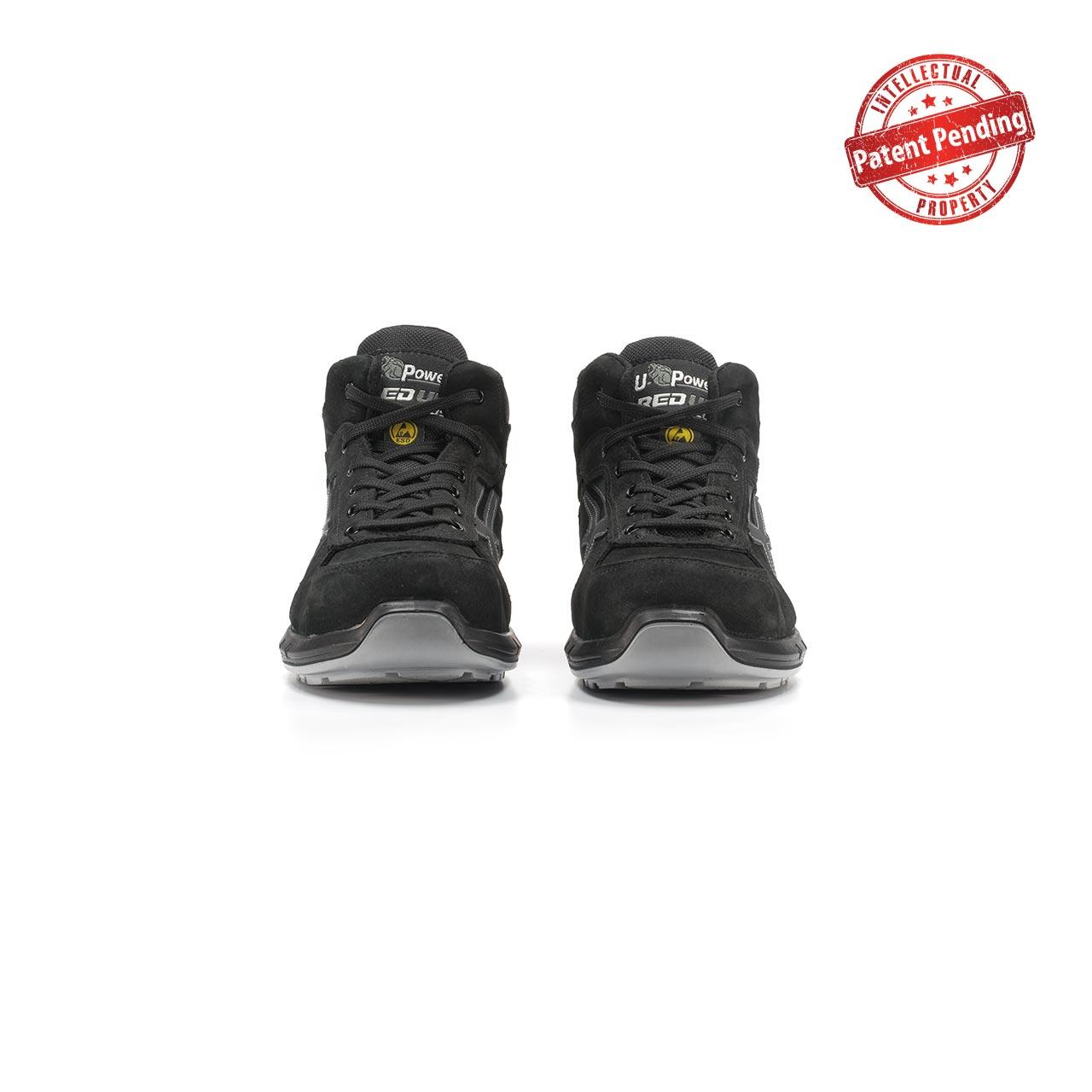 paio di scarpe antinfortunistiche alte upower modello nek plus linea redup plus vista frontale